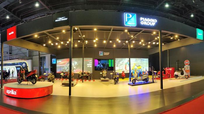 Piaggio Group: presentation of the new Aprilia SXR 160 scooter for indian consumers at the international Auto Expo Show in Delhi